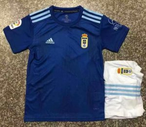 Children Real Oviedo Home Soccer Suits 2019/20 Shirt and Shorts