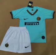 Children Inter Milan Away Soccer Suits 2019/20 Shirt and Shorts