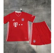 Children Bayern Munich Home Soccer Suits 2020/21 Shirt and Shorts
