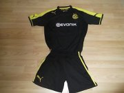 Kids 13-14 Dortmund Away Jersey Kit(Shorts+Shirt)