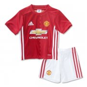 Kids Manchester United Home Soccer Kits 16/17 (Shirt+Shorts)