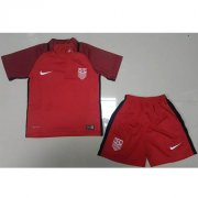 USA Third Soccer Suits 2017/18 Red Shirt And Shorts Kids