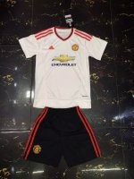 Kids Manchester United Away Soccer Kits 2015-16 (Shirt+Shorts)
