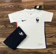 Children France Away Soccer Suits 2020 EURO Shirt and Shorts