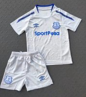 Everton Away Soccer Suits 2017/18 Shirt and Shorts Kids