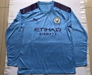 Manchester City Home Long Sleeve Soccer Jerseys 2019/20
