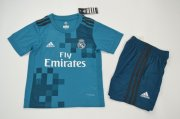 Real Madrid Thrid soccer suits 2017/18 shirt and shorts Kids