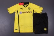 Kids Dortmund 13/14 Home Kit(Shirt+shorts)