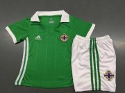 Kids Northern Ireland Home Soccer Kit 2018 World Cup (Shirt+Shorts)
