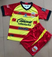 Children Monarcas Morelia Home Soccer Suits 2019/20 Shirt and Shorts