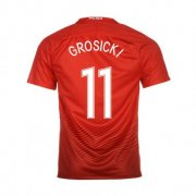 Poland Away Soccer Jersey 2016 Grosicki 11