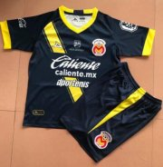 Children Monarcas Morelia Away Black Soccer Suits 2019/20 Shirt and Shorts