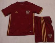 Kids Russia Home Soccer Kit 2016 Euro (Shirt+Shorts)