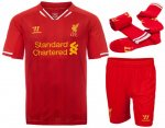 13-14 Liverpool Home Soccer Whole Kit(Shirt+Short+Socks)