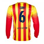 13-14 Barcelona #6 Xavi Away Long Sleeve Soccer Jersey Shirt