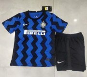 Children Inter Milan Home Soccer Suits 2020/21 Shirt and Shorts