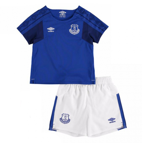 Everton Home Soccer Suits 2017/18 Shirt and Shorts Kids