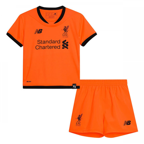 Kids Liverpool Third Soccer Kit 2017/18 (Shirt+Shorts)
