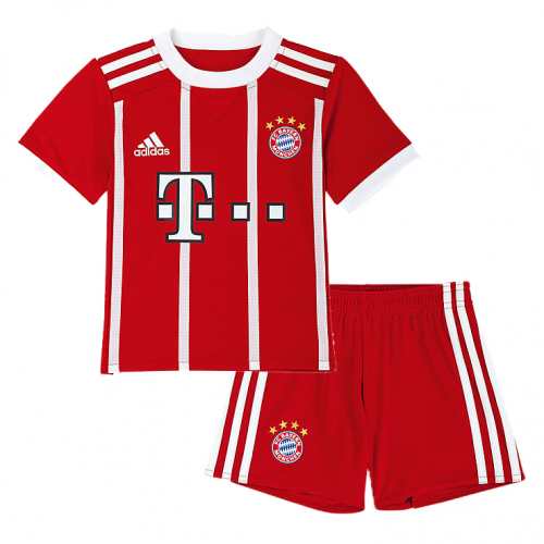 Bayern Munich Home Soccer Suits 2017/18 Shirt and Shorts Kids