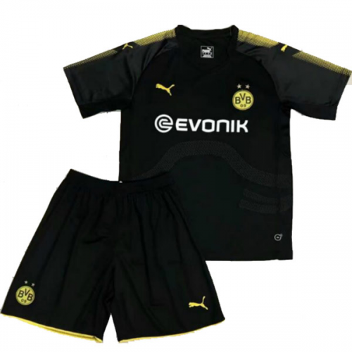 Kids Dortmund Away Soccer Kit 2017/18 (Shirt+Shorts)