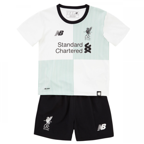 Liverpool Away Soccer Kits 2017/18 Shirt and shorts Kids White