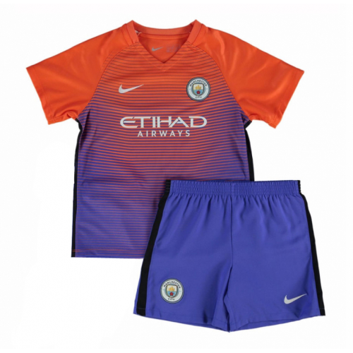 Kids Manchester City Third Soccer Kit 16/17 (Shirt+Shorts)