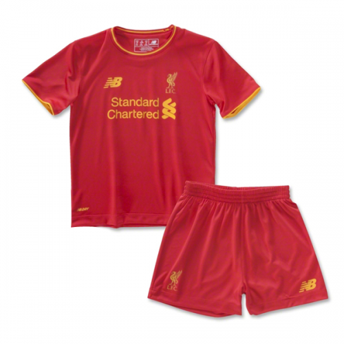 Kids Liverpool Home Soccer Kit 16/17 (Shirt+Shorts)