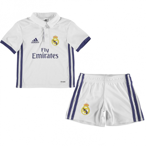 Kids Real Madrid Home Kit 16/17 (Shirt+Shorts)
